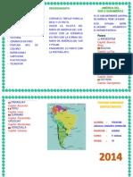 Mapa America Del Sur Triptico