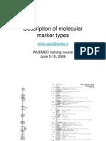 S. Salvi - Description of Molecular Marker Types