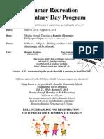 Romulus Elementary Day Program Summer 2014