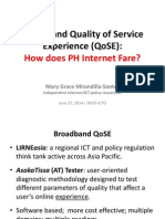 Broadband Quality of Service Experience (QoSE)