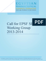 Call for SEP Working Group