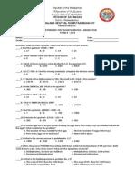 Second Periodic Test in Mathematics