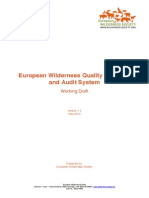 European Wilderness Quality Standard and Audit System