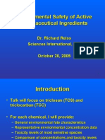 Environmental Safety of Active Pharmaceutical Ingredients