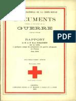 Rapport de M. le Dr René Guillermin sur sa visite à quelques camps de prisonniers de guerre allemands en France