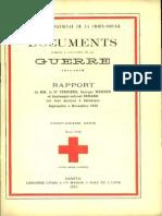 Rapport de MM. le Dr Ferrière, Georges Werner et lieutenant-colonel Redard sur leur mission à Salonique