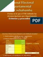 Forma en La Que El TSE Delimito Las Circunscripciones Por Departamento 2014