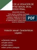 Violacion Sexual. Delitos Contra La Libertad Sexual.