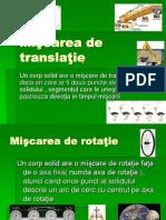 Miscarea de Translatie Si Rotatie