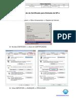 Manual Para Configuração de Certificado - Novo Formato
