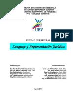 Programa de UC Lenguaje y Argumentacion Juridica