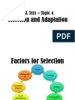 Topic 4-Selection and Adaptation