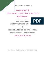 20140629 Libretto Santi Pietro Paolo