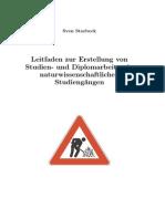 Leitfaden Zur Erstellung Von Studien- Und Diplomarbeiten in Naturwissenschaftlichen Studiengängen - Sven Storbeck