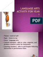 Language Arts Activity for Year 1