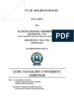 Btech Textile Chemistry Semester i to Viii Cbcegs