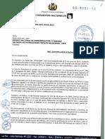 Nota Del Sin a Ypfb Por Facturacion de Pagos Anticipados