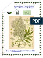 a preliminary guide to plant collection identification and herbarium technique