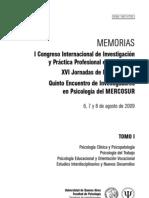 I Congreso Internacional de Investigación y Práctica Profesional en Psicología - Memorias Tomo 1