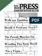 The Stony Brook Press - Volume 4, Issue 20
