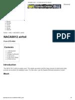 NACA0012 Airfoil Validtion
