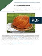 Bundt Cake de Naranja y Almendras Sin Lactosa