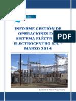 Informe Gestión Sistema Eléctrico Electrocentro Marzo 2014_Rev00