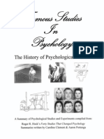 Famous Studies in Psychology