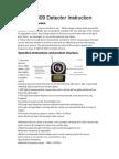 CC-309 Detector Instruction