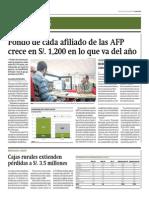 Fondo de Cada Afiliado de Las AFP Crece en Mil 200 Soles en Lo Que Va Del Año_Gestión 27-06-2014