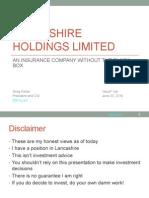 Greg Porter Lancashire Holdings Limited - ValueX 2014 Presentation Final