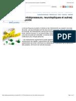 Les médicaments (antidépresseurs, neuroleptiques et autres) qui font prendre du poids | PsychoMédia