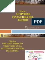 Derecho Tributario Ne La Actividad Financiera
