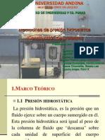 Diapositivas - Mediciones de Presion Hidrostatica