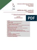 LAMPEA-Doc 2014 – numéro 23 / Vendredi 27 juin 2014