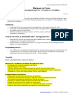 Temario Macros en Excel