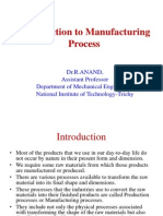 Introduction ToManufacturing Processes 26 04 2011