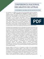 Declaración XXII Conferencia de Decanatos