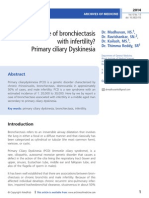 A case of bronchiectasis  with infertility?  Primary ciliary Dyskinesia