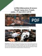 Hasil Rukyatul Hilal Dilaksanakan Di Menara Al Husna Masjid Agung Jawa Tengah
