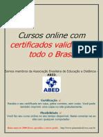 Cursos Online Com Certificados Validos Em Todo o Brasil