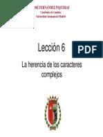 T6.- La Herencia de Los Caracteres Complejos v1