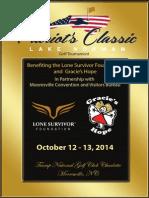 Patriot's Classic Golf Tournament Flyer