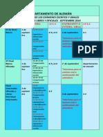 Calendario Exámenes Septiembre 2014