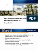 1808 Hybrid DeHybrid Deployment Scenarios for SAP HCM and SuccessFactorsployment Scenarios for SAP HCM and SuccessFactors