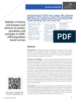 Impaired fasting glucose level and diabetes in Kaoma and Kasama rural districts of Zambia