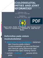 Musculoskeletal Deformities and Joint Deformities