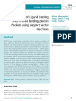 Prediction of Ligand Binding sites in RNA binding protein Pockets using support vector machines