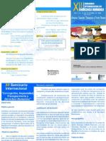 Brochures XII Seminario Internacional