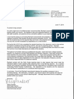 letter of recommendation sanders